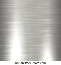 błyszczący, oczyszczony szczotką metal, struktura