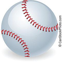 błyszczący, piłka, baseball, ilustracja