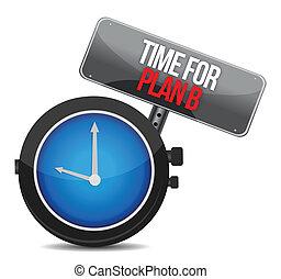 b, zegar, wizerunek, plan, czas, ładny