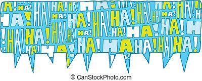 bańka, mowa, śmiech, grupa