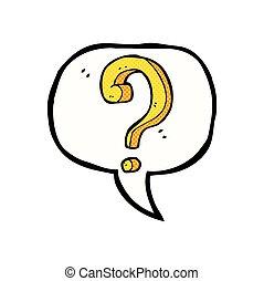 bańka, mowa, pytanie, rysunek, marka
