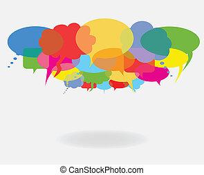 bańki, mowa, rozmowa