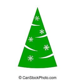 backdrop., zima, piękny, sprytny, decoration., boże narodzenie, rysunek, element., illustration., biały, barwny, pora, wektor, święto, drzewo., ilustracja, projektować