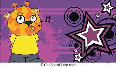 background5, żyrafa, rysunek, koźlę