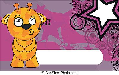 background6, żyrafa, rysunek