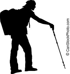backpacker, wektor