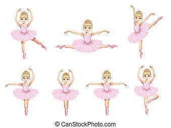balerina, piękny, komplet