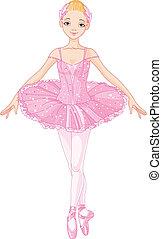 balerina, różowy