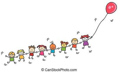 balloon, dzieciaki, interpretacja