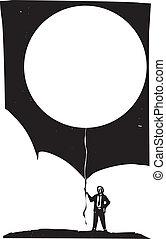 balloon, opróżniać