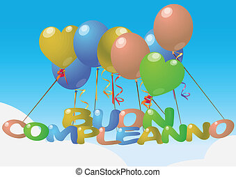 balloon, szczęśliwe urodziny