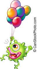 balony, barwny, potwór