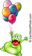 balony, potwór, metaliczny