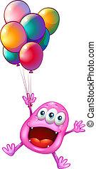 balony, potwór, szczęśliwy