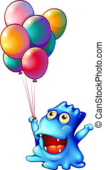 balony, potwór