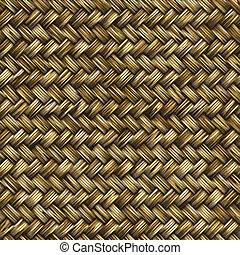 bambus, drewno, tkany, albo