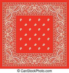 bandana, czerwony