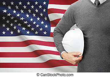 bandera, -, ameryka, stany, tło, zjednoczony, architekt