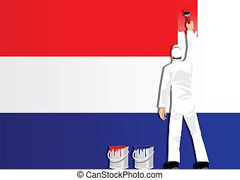 bandera, niderlandy, malarstwo