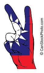 bandera, pokój, tajwan, znak
