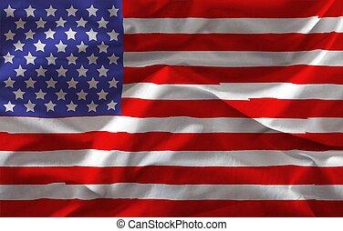 bandera, stany zjednoczony, textured, tło