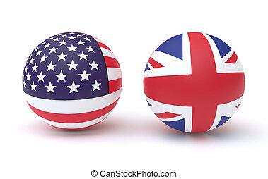 bandera, uk, usa, ikony
