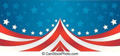 bandera, wektor, usa, styl