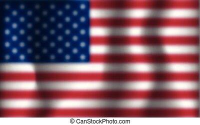 bandera, wektor, usa, zamazany