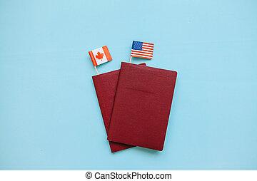 bandery, paszport, obcokrajowy