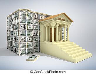 bankowość, pojęcie, 3d
