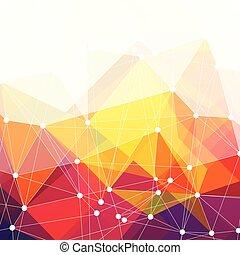 barwny, abstrakcyjny, wektor, tło, projektować, triangle