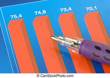 barwny, handlowy, wykres
