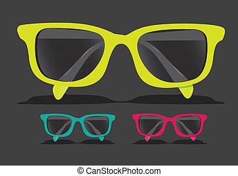 barwny, okulary