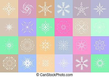 barwny, płatki śniegu, tło