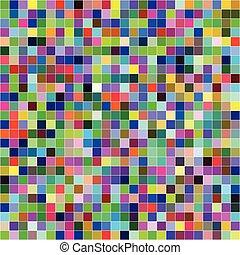 barwny, próbka, abstrakcyjny, seamless, tło, cyfrowy, pixels