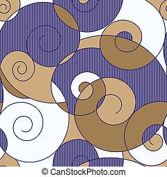 barwny, spirale, seamless, abstrakcyjny