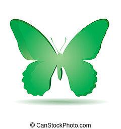 barwny, tło, butterfly.