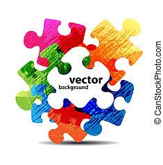 barwny, zagadka, formułować, wektor, projektować, abstrakcyjny