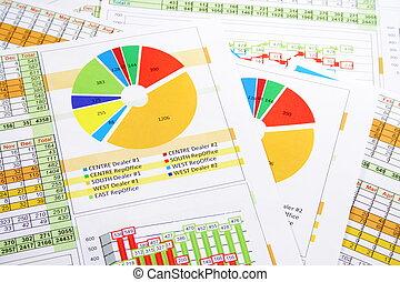 barwny, zbyt kartuje, wykresy, zameldować, cyfry
