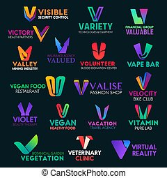 barwny, znaki, ikony, litera, v, zbiorowa identyczność