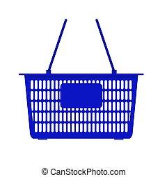 basket?, wektor, tło, supermarket, biały