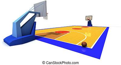 basketball dziedziniec