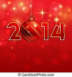 bauble, tło, rok, nowy, boże narodzenie, szczęśliwy
