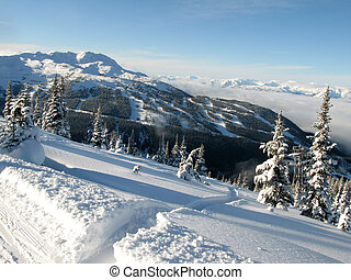 bc, góra, blackcomb, whister, -, kanada