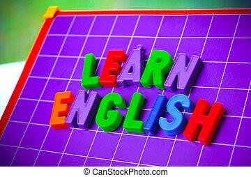 beletrystyka, język, alfabet, uczyć się, magnez, angielski