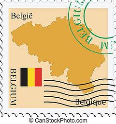 belgia, poczta, to/from