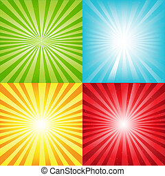 belki, jasny, sunburst, tło, gwiazdy