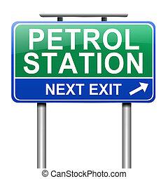 benzyna, poznaczcie., stacja