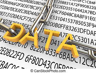 bezpieczeństwo, pojęcie, dane, 3d