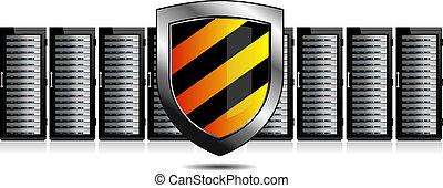 bezpieczeństwo, sieć, servery